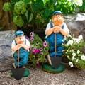 Садовая фигура Землекоп с лопатой - фото 58026