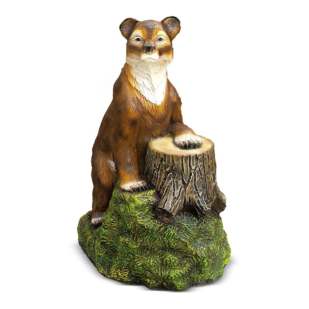 Большая фигура Медведь с пнем