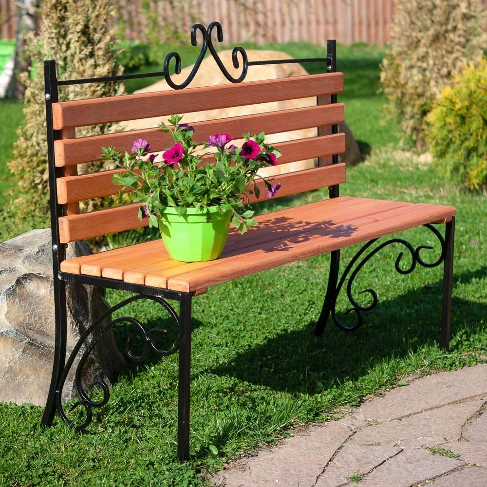 Кованая садовая скамейка