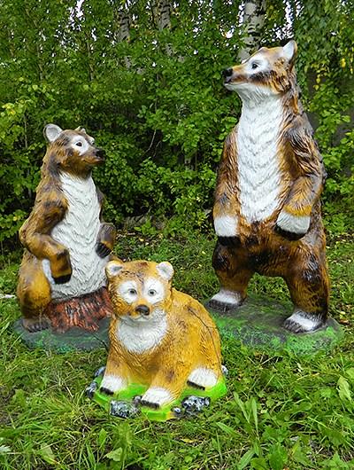 Садовые фигуры медведи