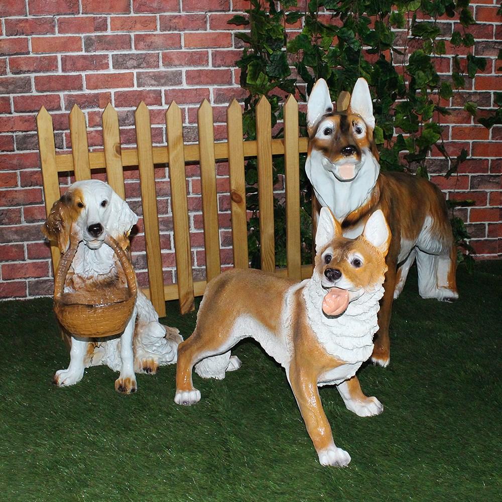 Комплект садовых фигур собаки