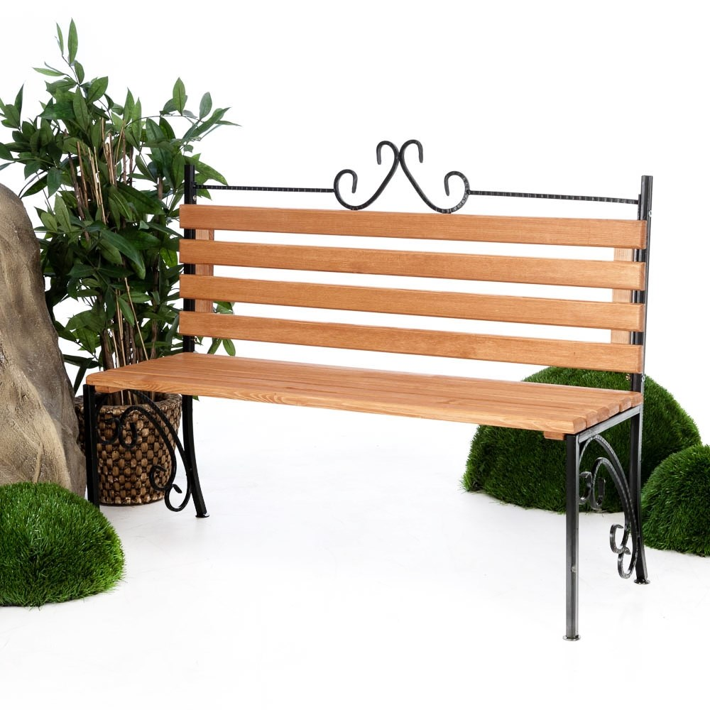 Парковая скамейка со спинкой