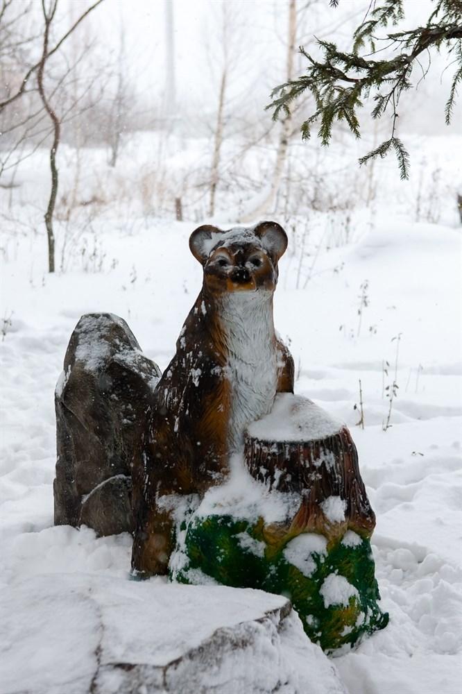 Большая фигура Медведь с пнем - фото 52495
