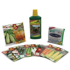 Набор семян овощи на грядке