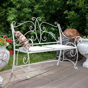 Кованая скамейка для сада